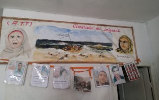 Information wall in Tunisia